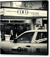 Movie Theatre Paris In New York City Canvas Print by Sabine Jacobs