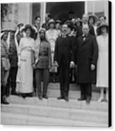 Mr. And Mrs. Winston Churchill Canvas Print by Everett