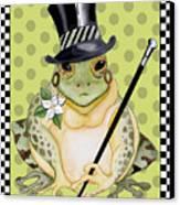 Mr. Beau Frog Canvas Print
