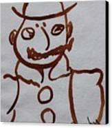 Mr Leopold Bloom Canvas Print by Roger Cummiskey