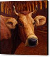 Mrs. O'leary's Cow Canvas Print by James W Johnson