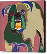 Ms Diva The English Bulldog Canvas Print