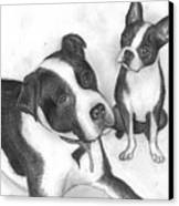 Ms Proutys Dogs Canvas Print