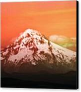 Mt Hood Oregon Sunset Canvas Print by Aaron Berg