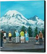 Mt. Rainier Tourists Canvas Print