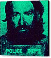 Mugshot Willie Nelson P28 Canvas Print by Wingsdomain Art and Photography