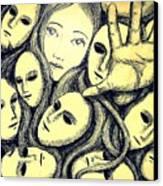Multiple Personalities Canvas Print by Paulo Zerbato