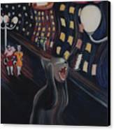 Munch's Cat--the Scream Canvas Print by Eve Riser Roberts