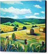 Munlochy Bales Canvas Print