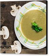 Mushroom Soup Canvas Print by Deyan Georgiev