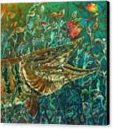 Musky- Chasin Canvas Print by Sue Duda