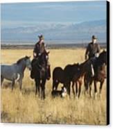 Mustang 'n' Cowboys Canvas Print
