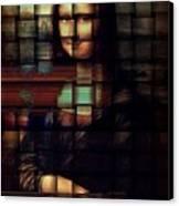 My Mona Lisa  Weave Series Canvas Print by Teodoro De La Santa