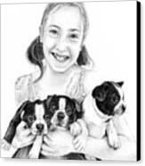 My Puppies Canvas Print
