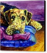 My Teddy Airedale Terrier Canvas Print by Lyn Cook