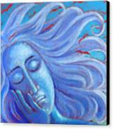 My Thoughts Fly Far Beyond Me Canvas Print by Angela Treat Lyon