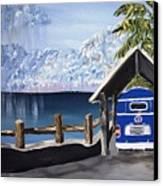 My Van In The Rain Canvas Print by K J Gordon