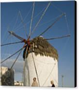 Mykonos Icon Windmill Canvas Print
