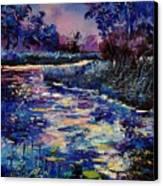 Mysterious Blue Pond Canvas Print