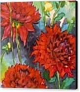 Mystery Day Dahlias Canvas Print