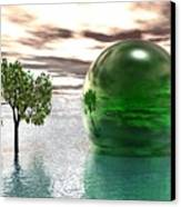 Mystic Surreal In Green Canvas Print