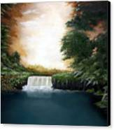 Mystical Falls Canvas Print