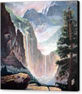 Mythical Valley Falls Canvas Print