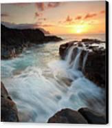 Na Pali Sunset Canvas Print by Mike  Dawson