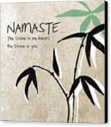 Namaste Canvas Print
