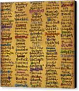 Names Of God - Inspirational Scripture Painting Canvas Print by Annie Laurie