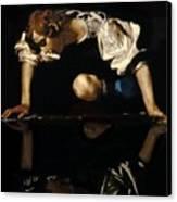 Narcissus Canvas Print by Caravaggio