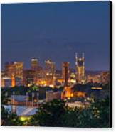 Nashville By Night 2 Canvas Print by Douglas Barnett