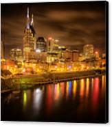 Nashville City Lights Canvas Print by Stuart Deacon