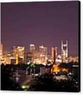 Nashville Cityscape 3 Canvas Print by Douglas Barnett