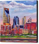 Nashville Skyline Painting Canvas Print