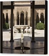 Nasrid Palaces Alhambra Granada Spain Europe Canvas Print