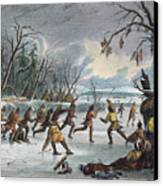 Native Americans: Ball Play, 1855 Canvas Print