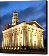 Nauvoo Temple Canvas Print by John Wunderli