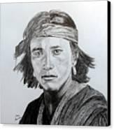 Navaj Brave Canvas Print