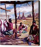 Navajo Weavers Canvas Print