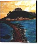 Near Penzance St. Michaels Mount Canvas Print
