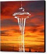 Needle Silhouette Canvas Print