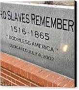 Negro Slaves Remembered Canvas Print by Warren Thompson