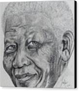 Nelson Mandela Canvas Print by Stephen Sookoo