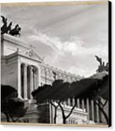 Neoclassical Architecture In Rome Canvas Print by Stefano Senise