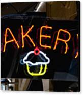 Neon Bakery Sign Canvas Print