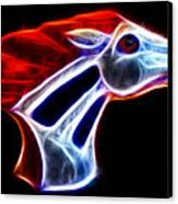 Neon Bronco Canvas Print
