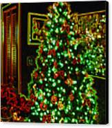 Neon Christmas Tree Canvas Print