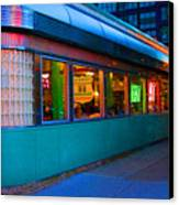 Neon Diner Canvas Print by Crystal Nederman