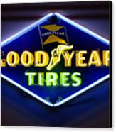Neon Goodyear Tires Sign Canvas Print